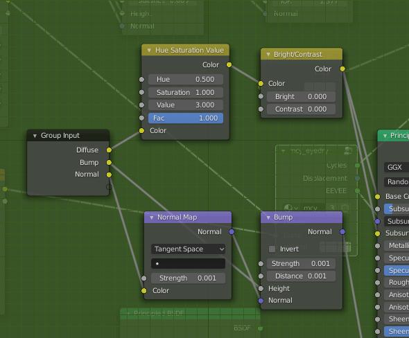 blender shader editor sclera material value