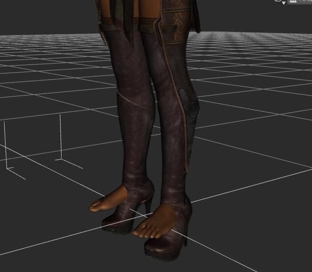 daz shoes issue heels autofit genesis 3