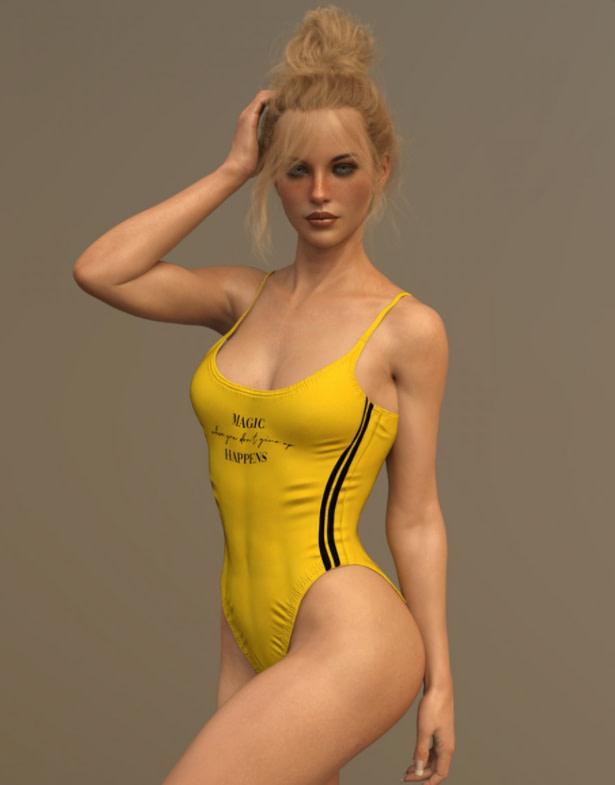 x fashin bathsuit 3d model