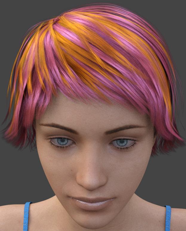 daz3d mixing hair color manually