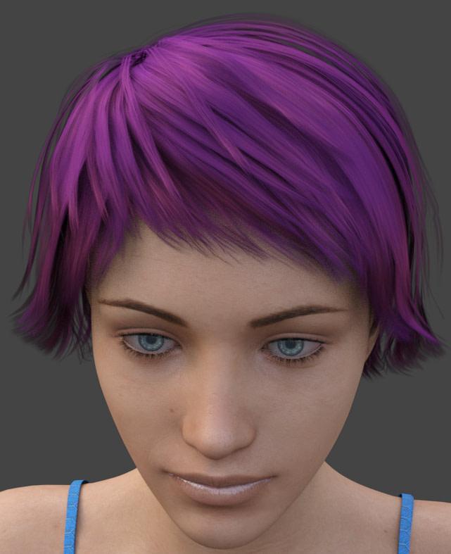 daz3d dark hair specular color