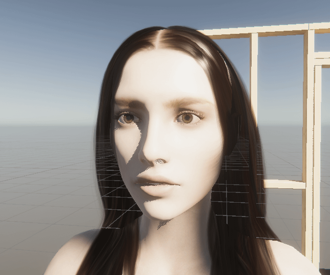unity scene view rose eye texture material