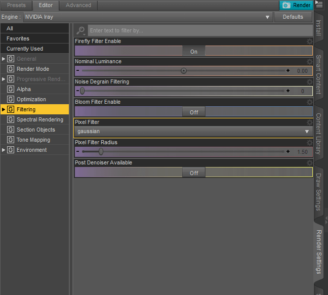 daz studio sharp render settings
