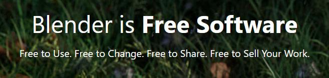 blender is free software