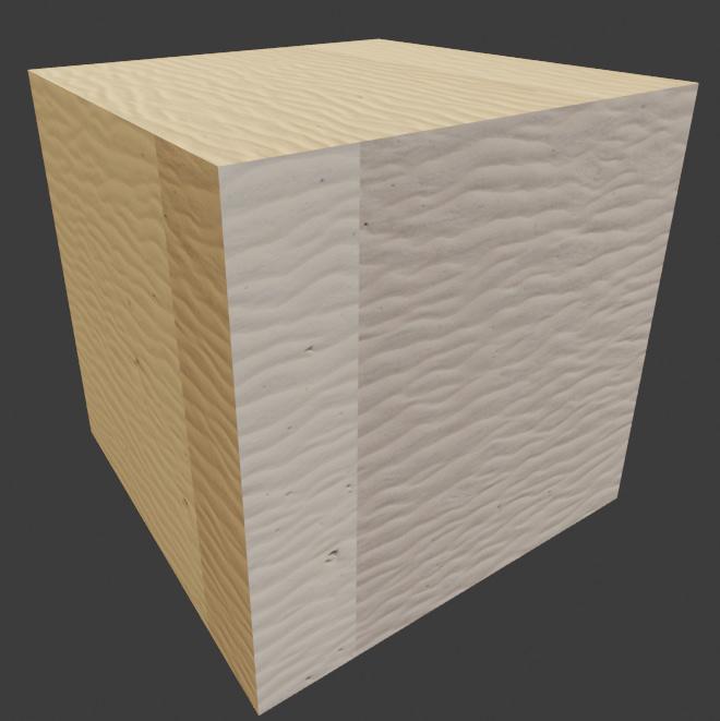 blender textured cube