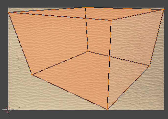 blender project from view bounds