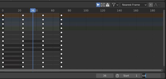 blender animation change end frame