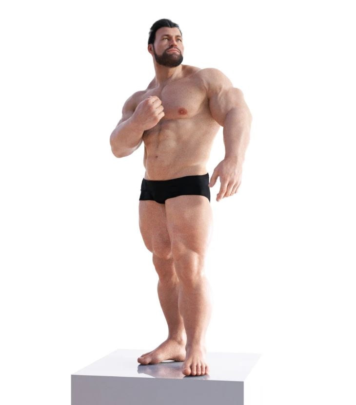 daz3d bodybuilding poses for the brute