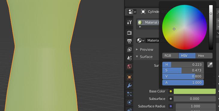 blender materials base color