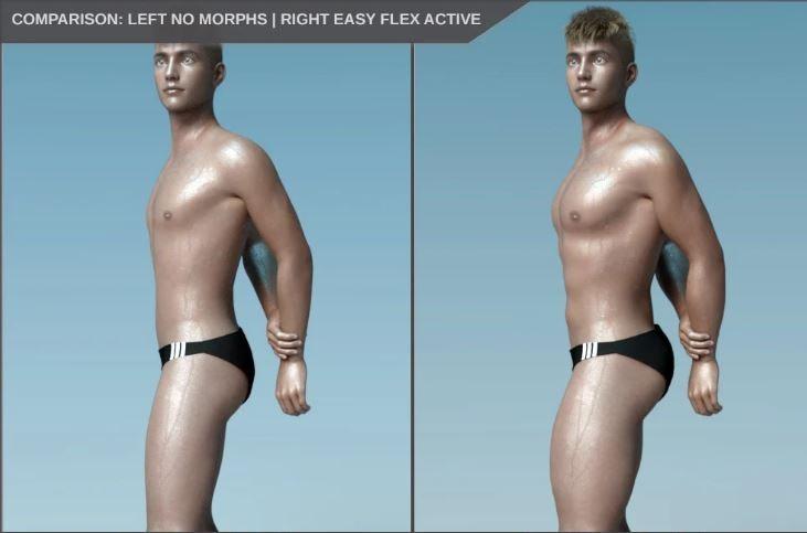 daz3d easy flex muscularity morph for male