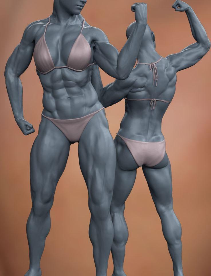 daz3d musculature hd morphs bundle