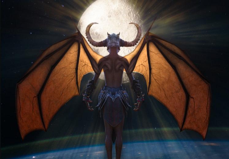 daz3d leather wings