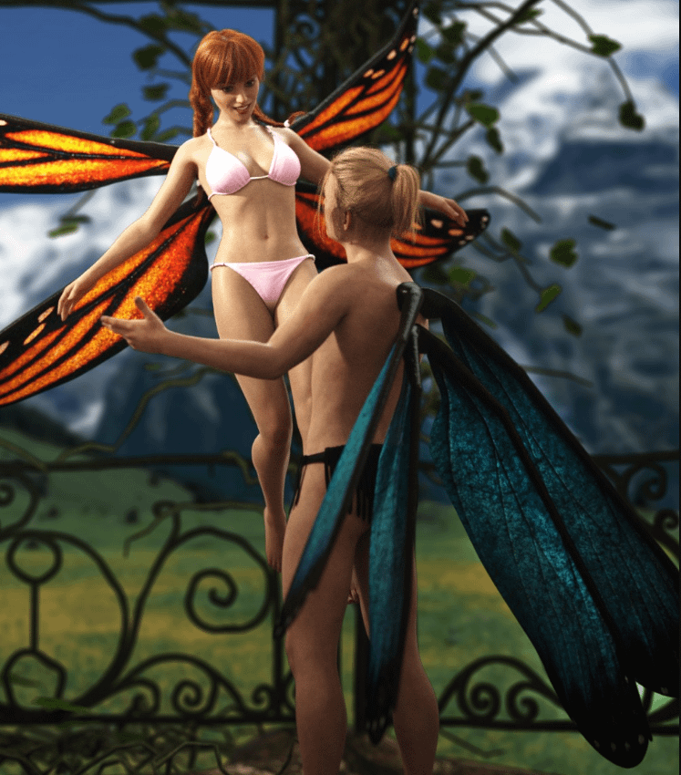 daz natural fae wings for male and female