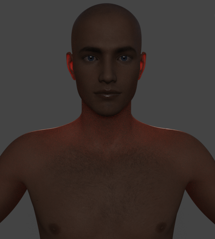 daz3d subsurface scattering transmitted color