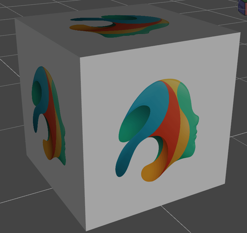 daz3d texture tutorial showing cube with daz studio texture