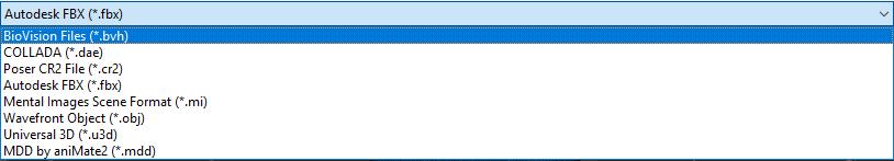 animation export formats in daz3d