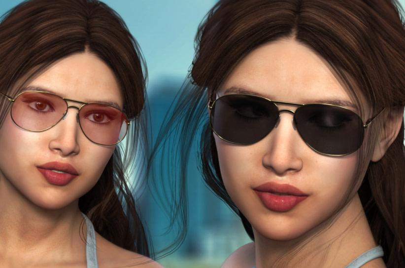 daz3d ej sunglasses genesis 8 female
