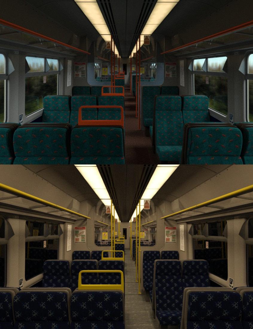 daz studio modern commuter carriage