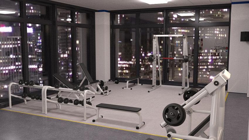 Modern Fitness Club 3d Model