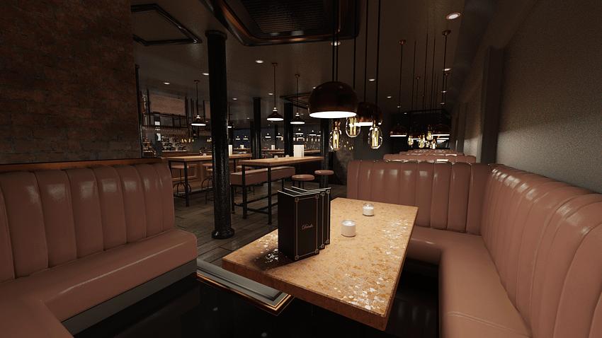 3d model of a bar