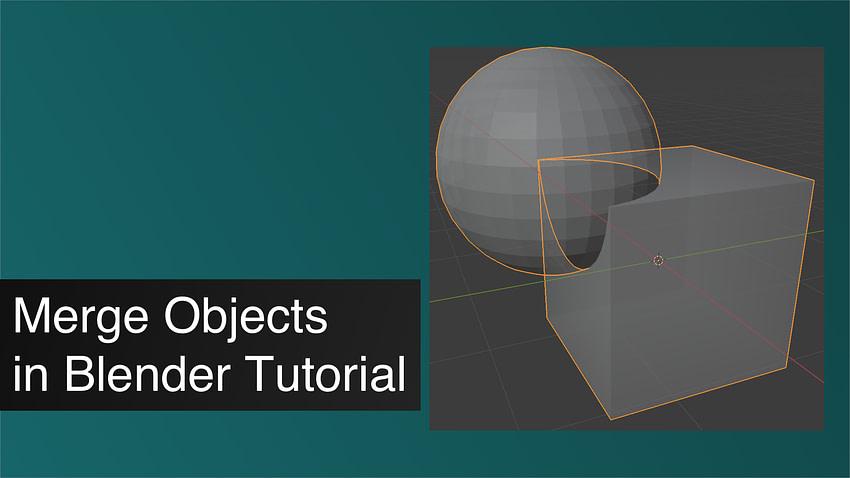 Blender Merge Objects
