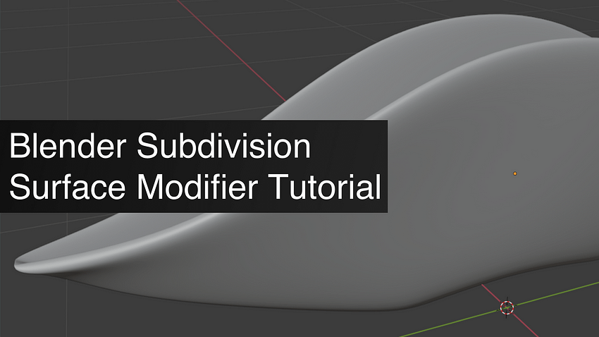 Blender Subdivision Surface Modifier Tutorial