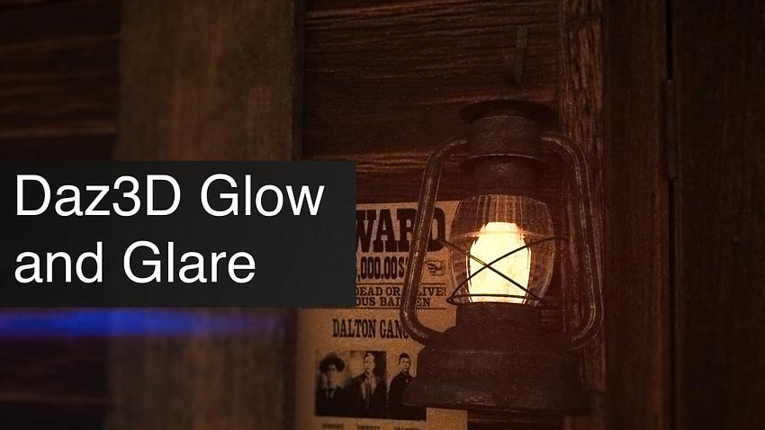 Daz3D Glow and Glare Effects in Daz Studio
