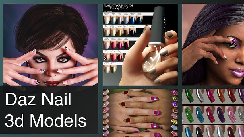 daz nail 3d models