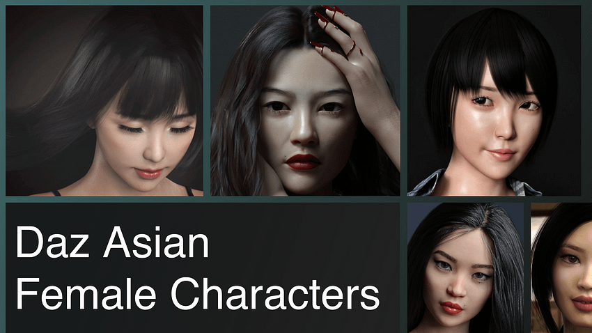 Top Daz3D Asian Female Characters