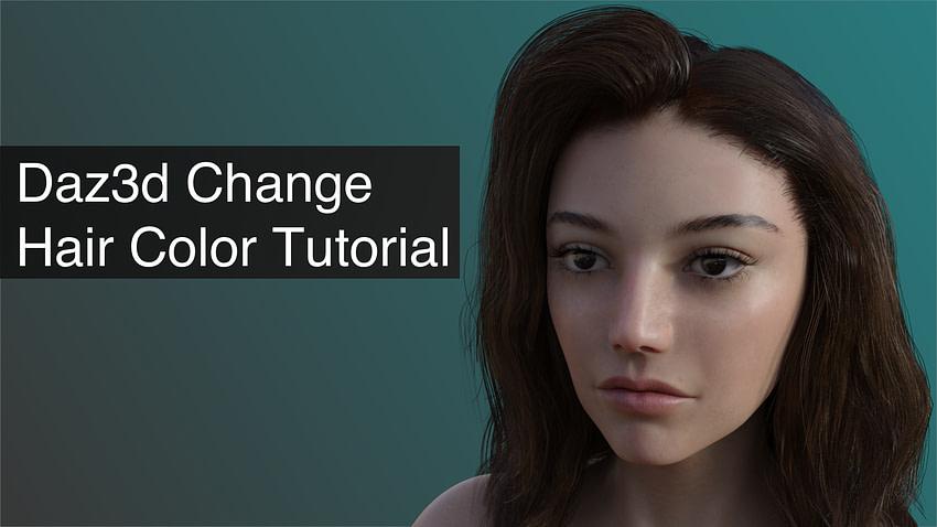 daz3d change hair color tutorial