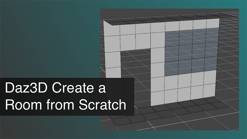 Daz3D Create a Room