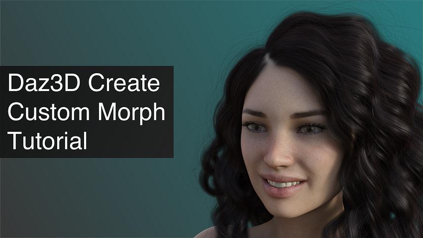 Daz3D Create Custom Morph Tutorial