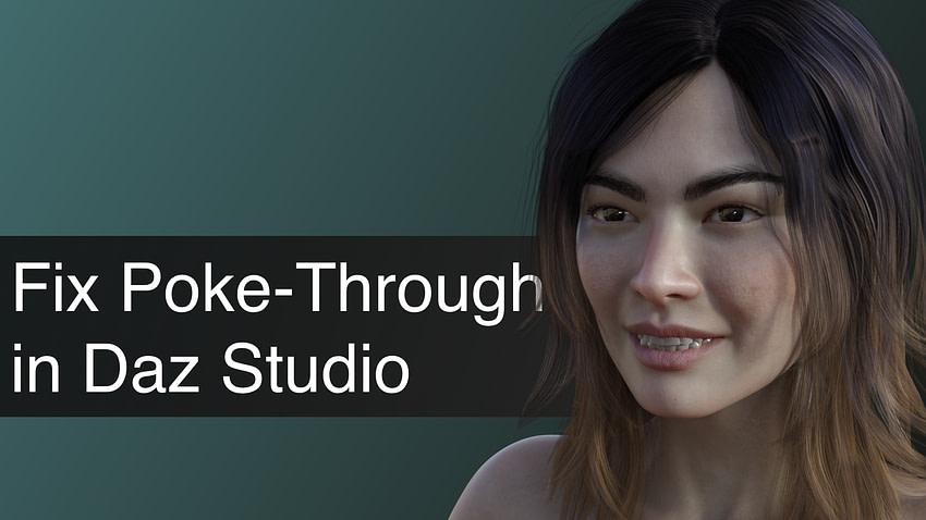 How to Eliminate Poke Through in Daz Studio Tutorial