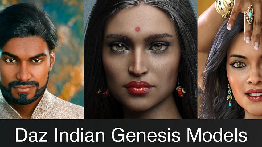 Top Daz3D Indian Genesis Characters