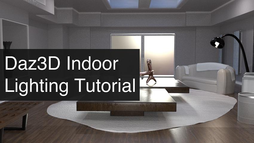 Daz3D Indoor Lighting Tutorial