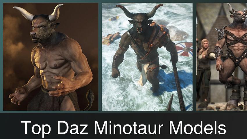 Top Daz3D Minotaur Characters