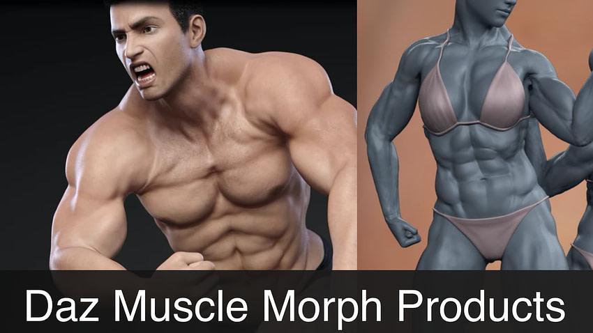 Daz3D Muscle Morphs