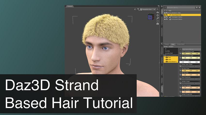 Daz3D Strand Based Hair Tutorial
