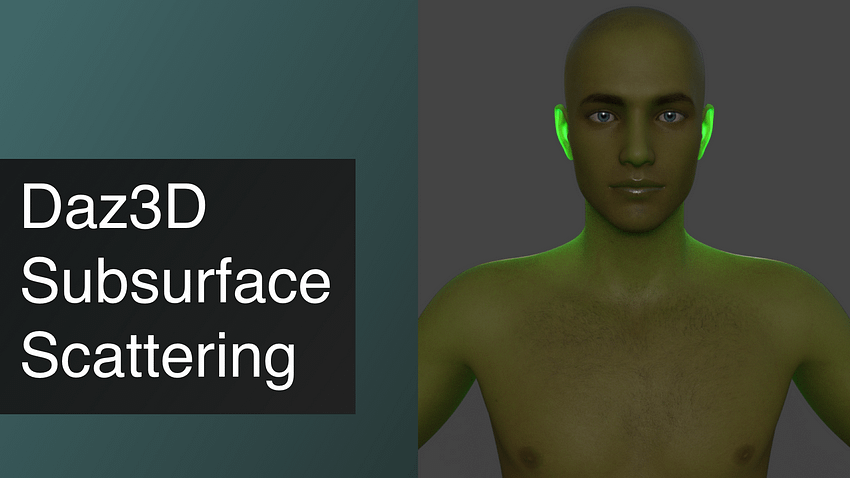 Daz3D Subsurface Scattering Tutorial