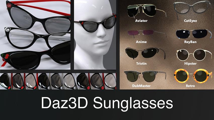 Top Daz3D Sunglasses for Genesis Characters