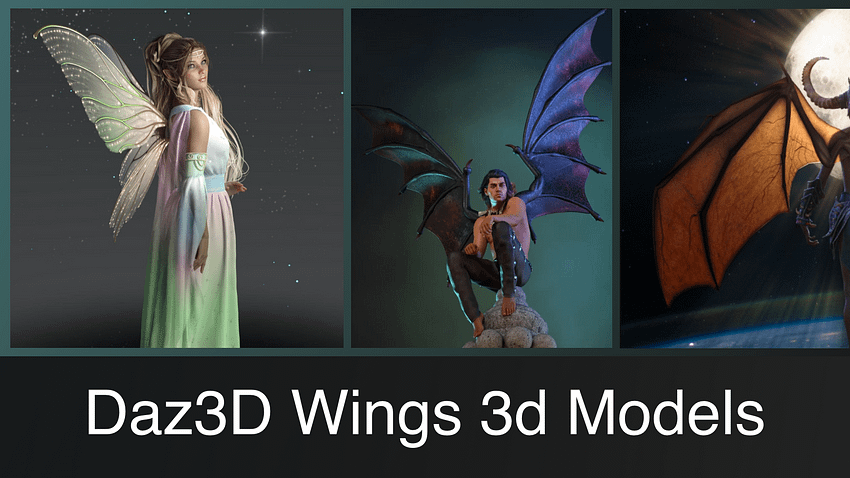 Top Daz3D Wings Products