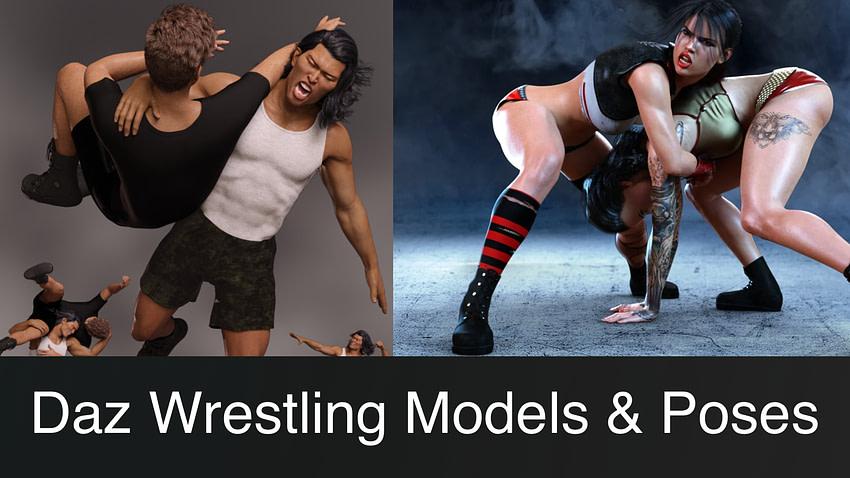 Top Daz3D Wrestling Models & Poses