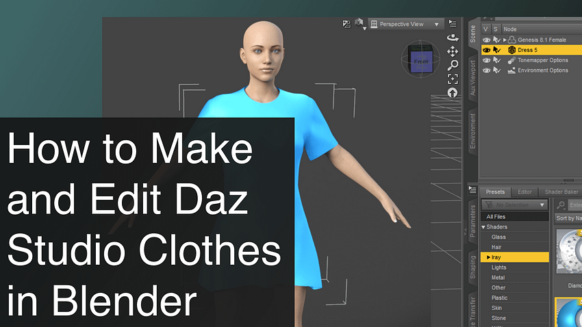 How to Make and Edit Daz Studio Clothes in Blender