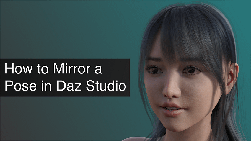 How to Mirror a Pose in Daz Studio