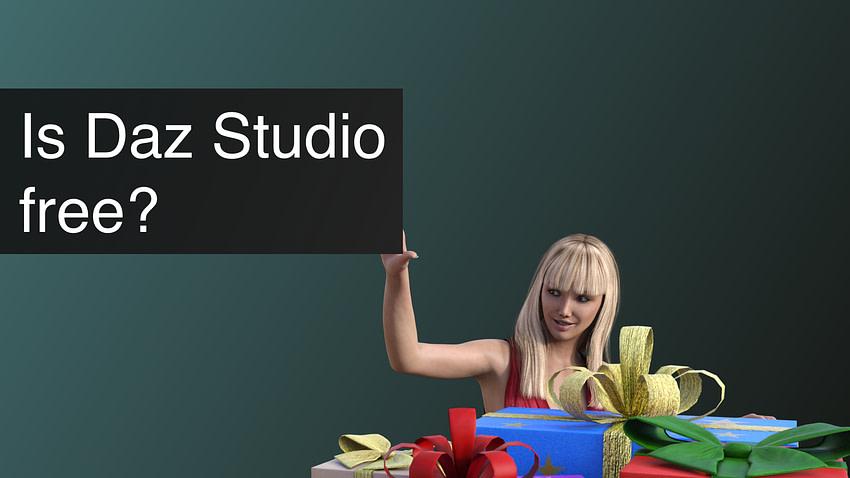 Is Daz Studio free?