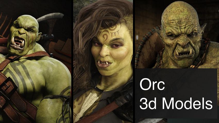 Top Orc 3d Models