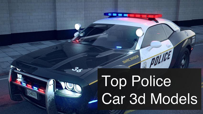 Top 3 Police Car 3d Models