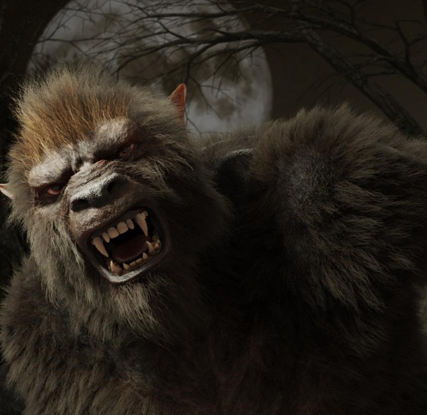 wolf beast 3d model