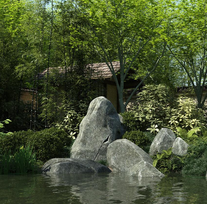 daz3d japan garden model
