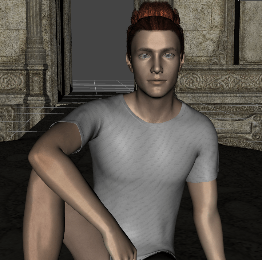 daz studio how to hide the whole character